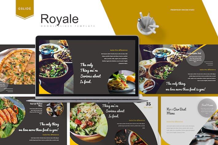 Thumbnail for Royale - Food Google Slides Template