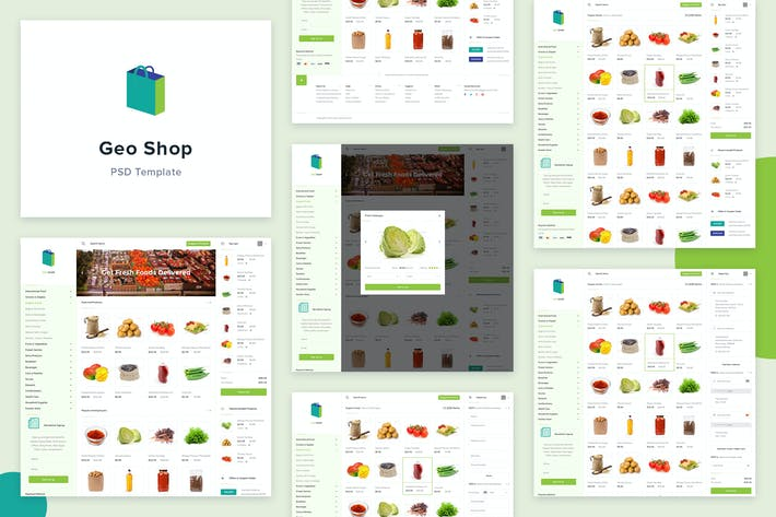 Thumbnail for Geo Shop - Groceries Shopping Website