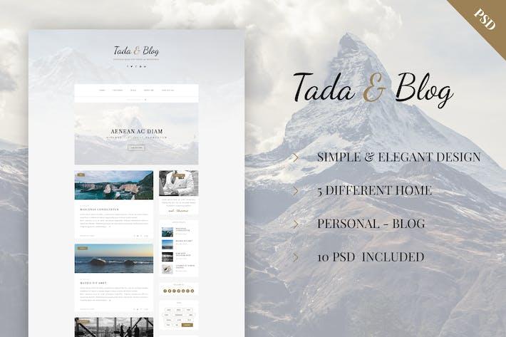 Thumbnail for Tada & Blog - Personal Blog PSD