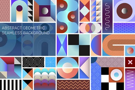 Abstract Geometric Vector Seamless Background Blue