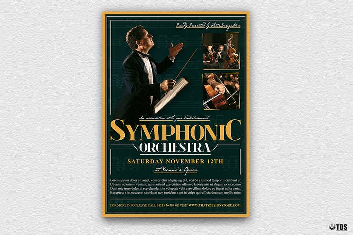Thumbnail for Symphonic Orchestra Flyer Template V2