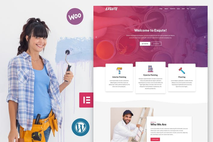 Thumbnail for Exqute - Painting Company WordPress Theme