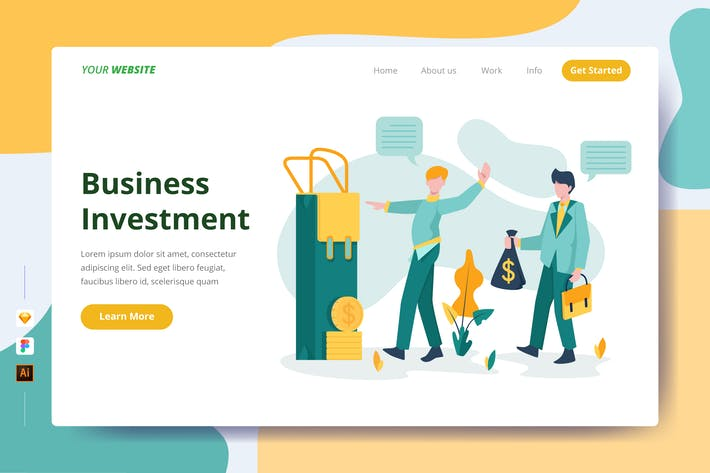 Thumbnail for Business Investment - Landing Page