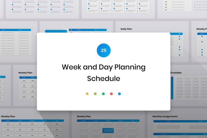 Thumbnail for Week and Day Planning, Schedule PowerPoint