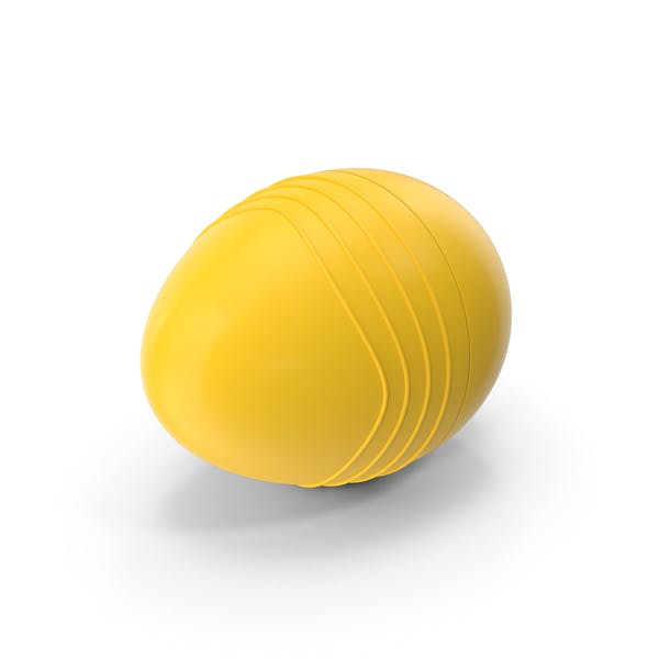 Желтое пластиковое яйцо с хребтами