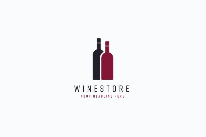 Thumbnail for Wine Store Logo Template