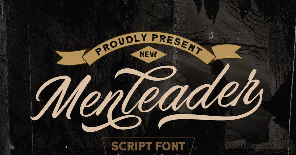 Download Menleader - Script font by letterhend