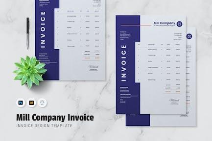 Mill Company Invoice
