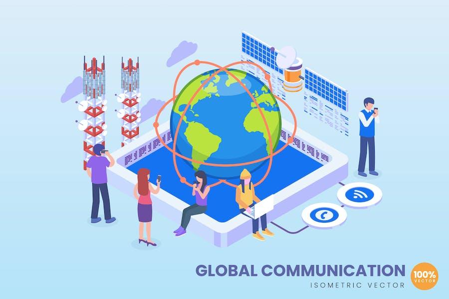 Isometric Global Communication Concept