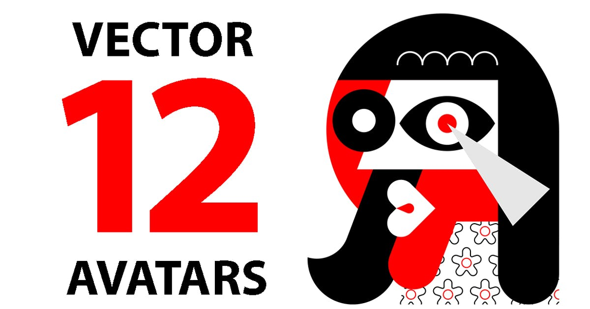 Download 12 Red and Black Vector Avatars by danjazzia