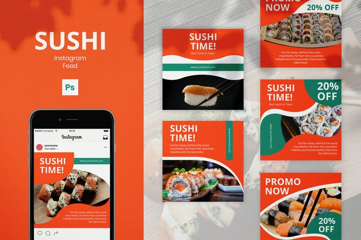 Thumbnail for Sushi Instagram Posts