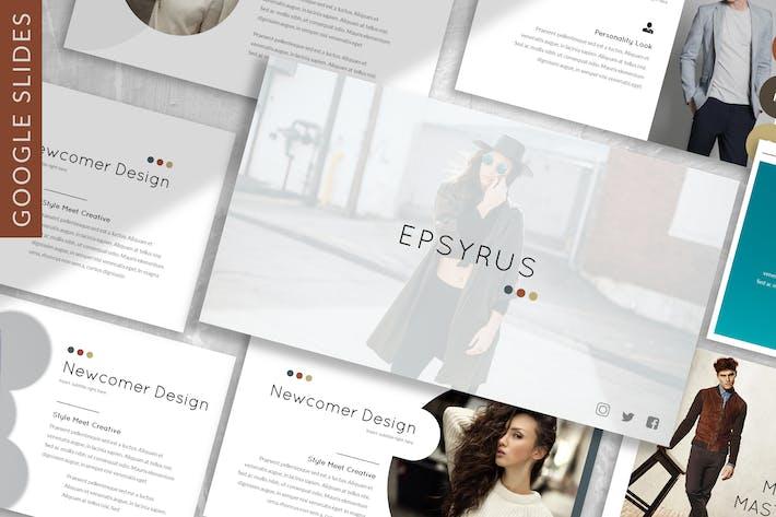 Thumbnail for Erpsyrus - Fashion Google Slides Template