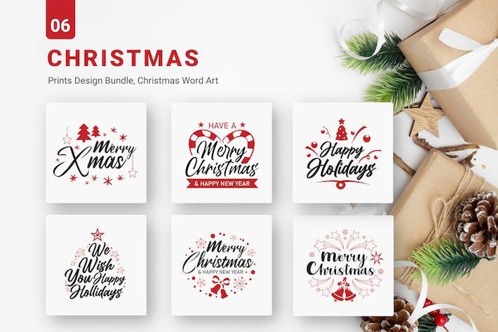 Thumbnail for Christmas Bundle Designs SVG EPS PNG