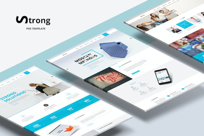 Thumbnail for Strong — Clean Minimal Design Business & Portfolio
