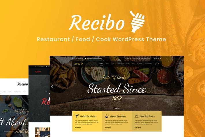 Thumbnail for Recibo - Restaurant / Food / Cook WordPress Theme