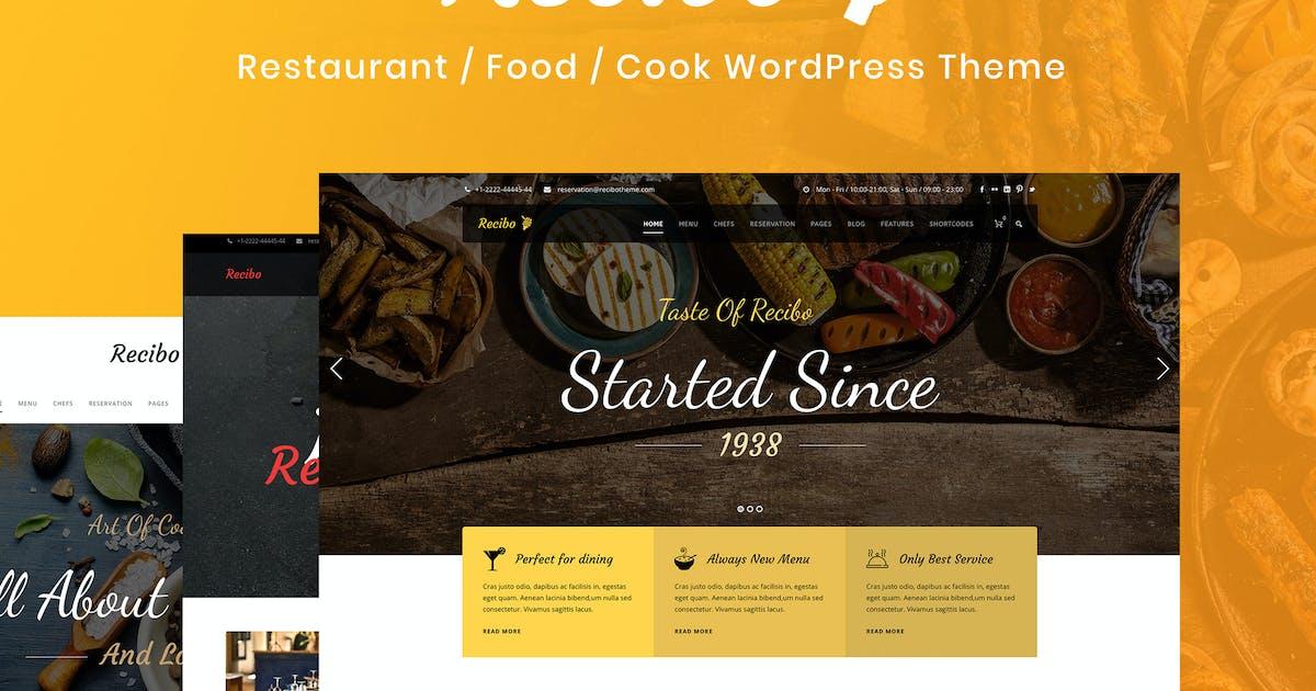 Recibo - Restaurant / Food / Cook WordPress Theme by GoodLayers
