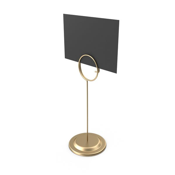 Sign Holder Tall Black Card