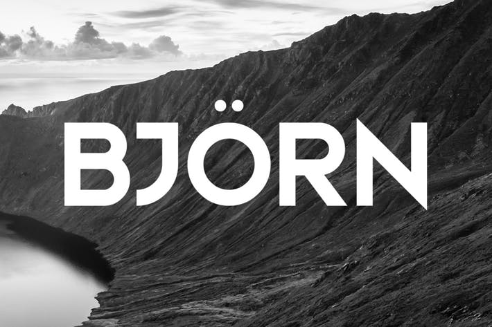 Cover Image For Bjorn Typeface