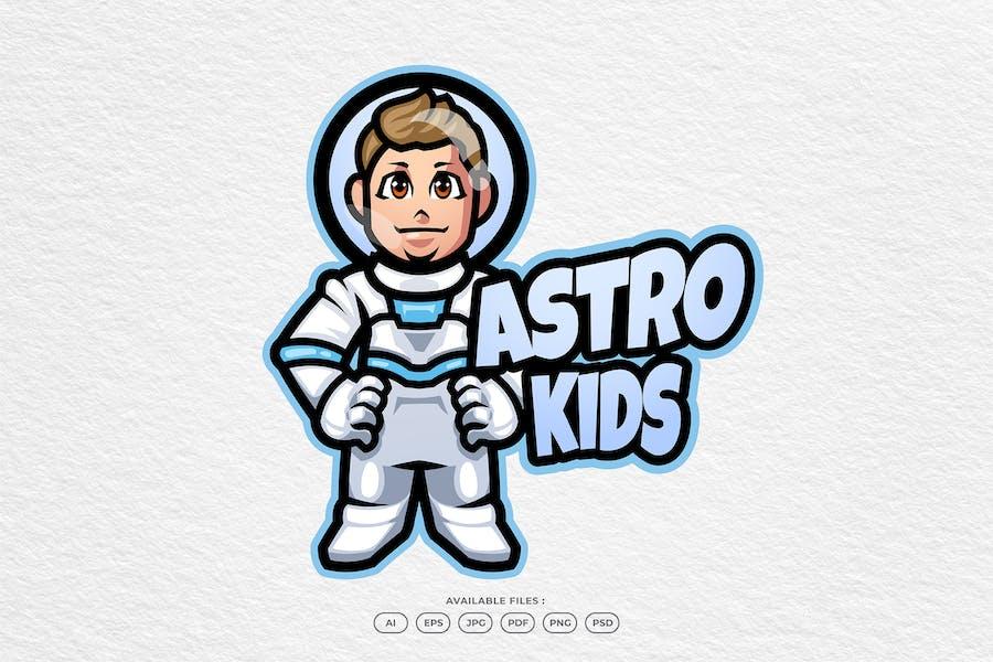 Astronaut Planet Mascot Logo