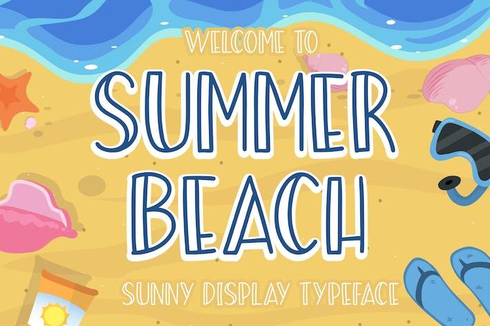 Thumbnail for Summer Beach Sunny Display Tipo de letra
