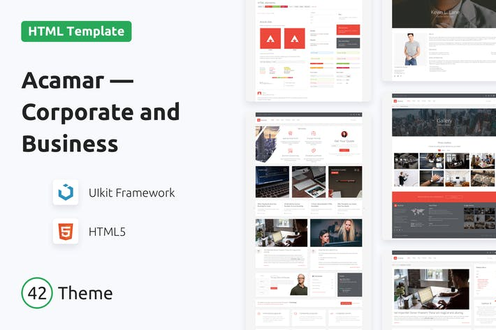 Thumbnail for Acamar — Tiled Layout Responsive HTML Template
