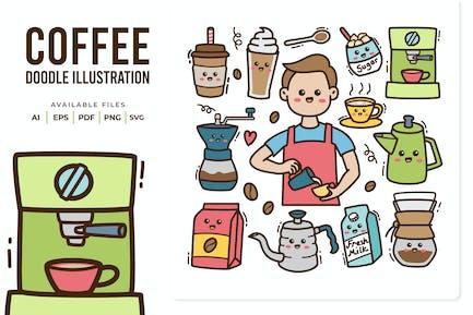 Coffee Doodle Illustration