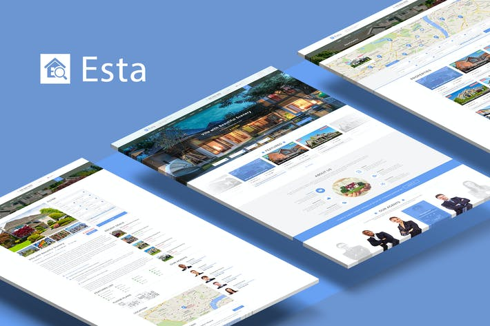 Thumbnail for Esta — Plantilla PSD Inmobiliaria