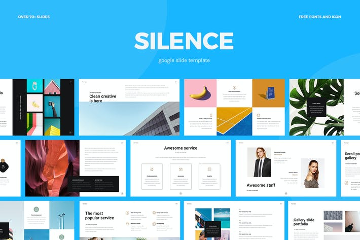 Thumbnail for Silence - Google Slide Template