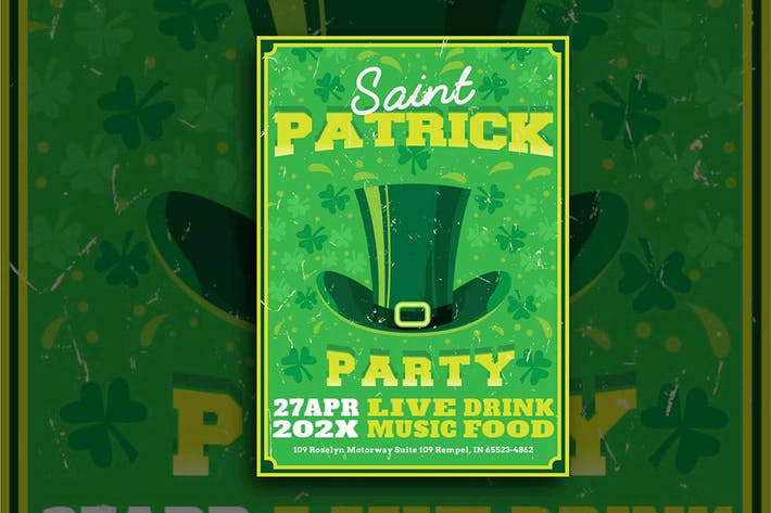 Thumbnail for St Patrick Day Hat Flyer