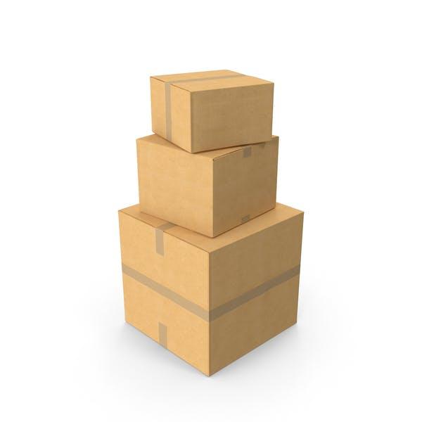 Стек картонной коробки