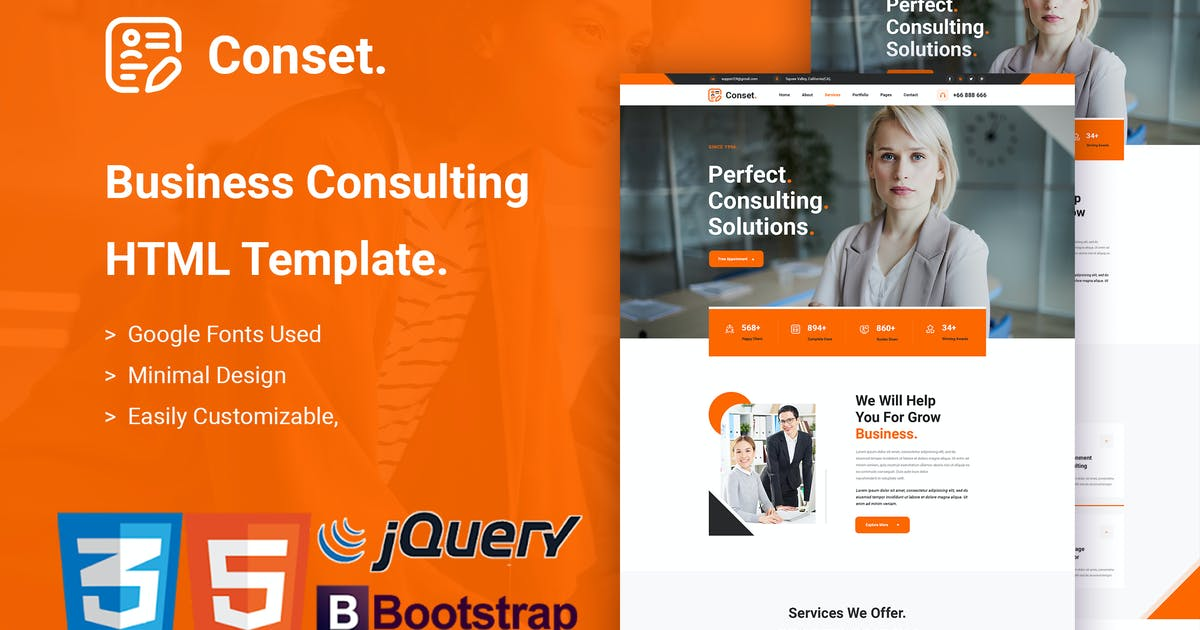 Download Conset - Business Consulting HTML5 Template by envalab