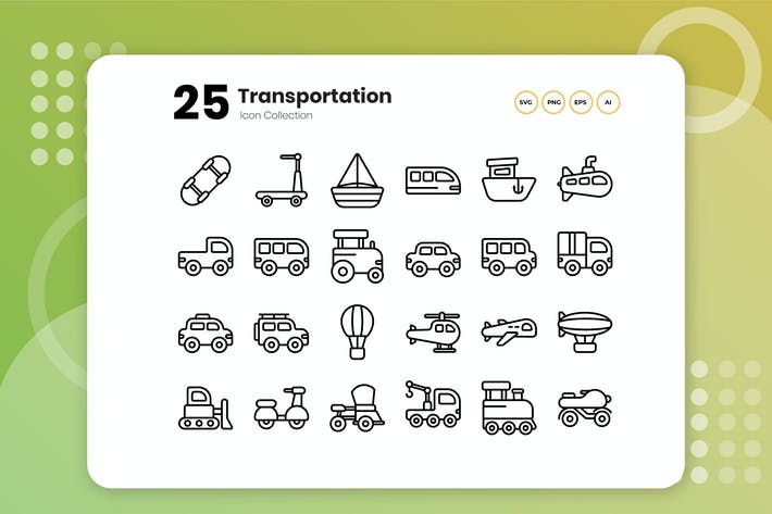 Thumbnail for 25 Transportation Outline Icon