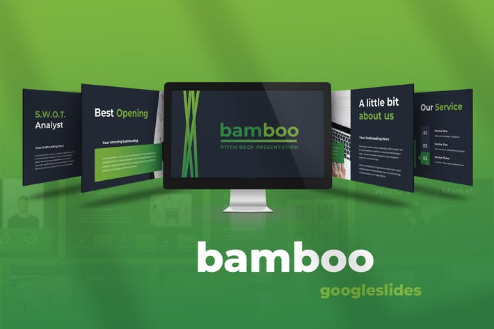 Thumbnail for Bamboo - Pitch Deck Googleslides Presentation