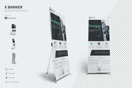 X-Banner Mockups Template FH