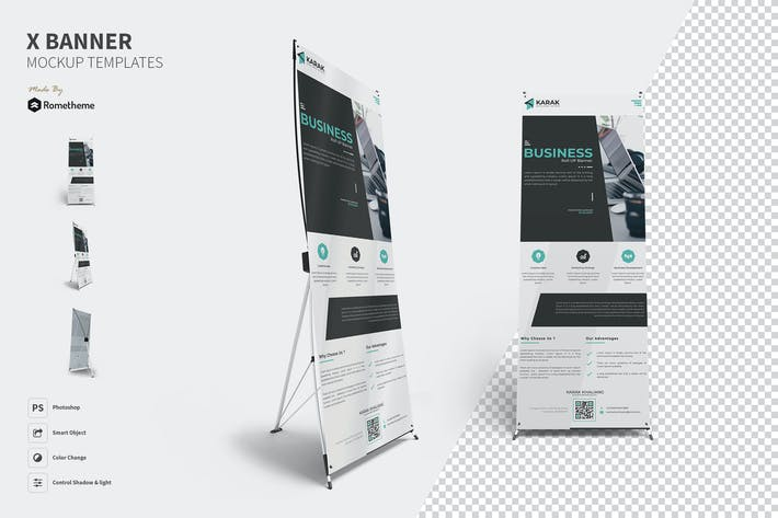Thumbnail for X-Banner Mockups Template FH