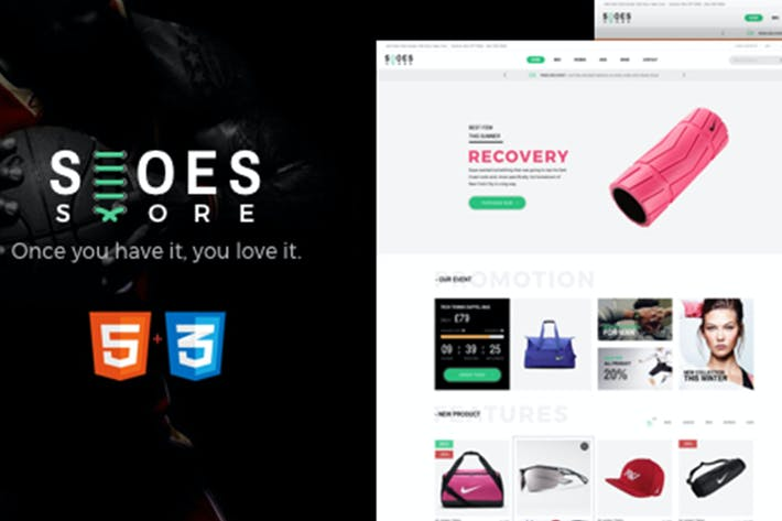 Cover Image For Shoes - eCommerce HTML5 Template