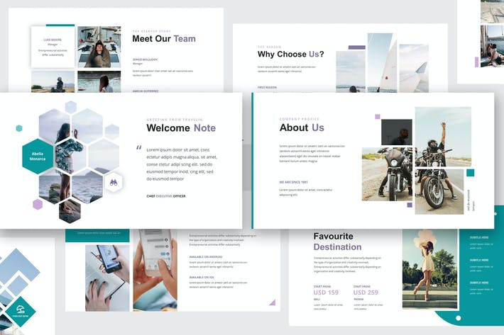 Thumbnail for Travellia - Travel Agency Keynote Template