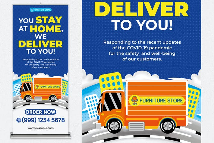 Thumbnail for Furniture Delivery Roll Banner