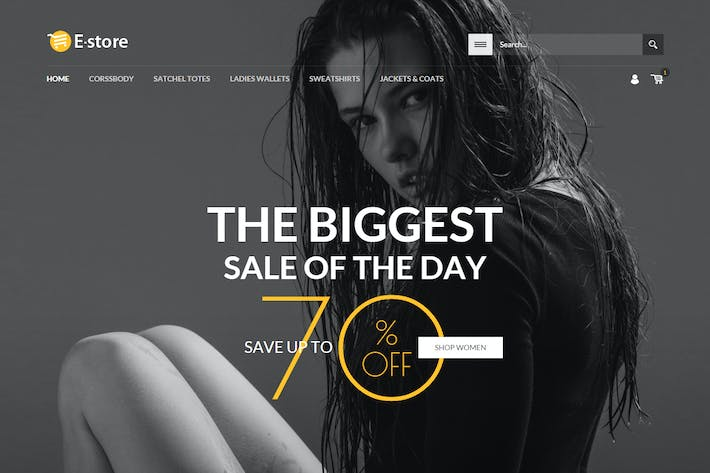 Thumbnail for E-Store - Responsive HTML Template