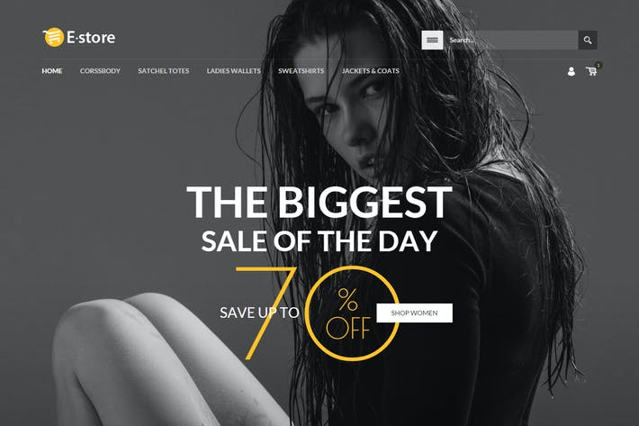 Cover Image For E-Store - Responsive HTML Template