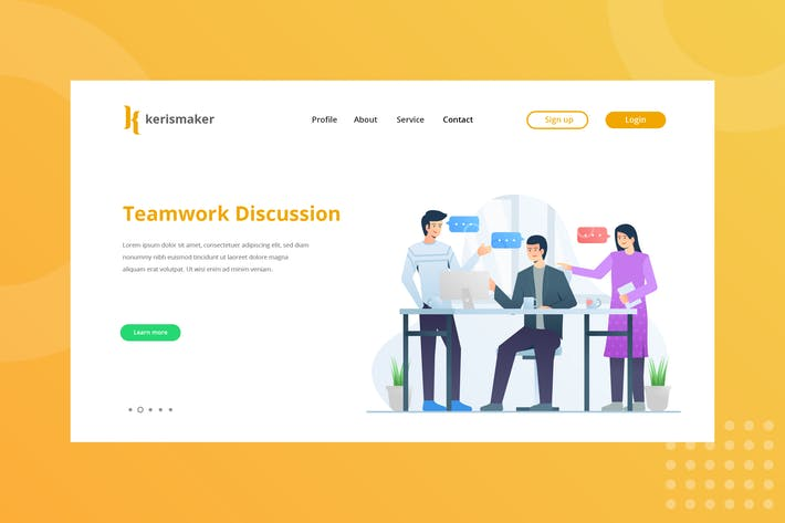 Thumbnail for Teamwork Discussion Landing Page