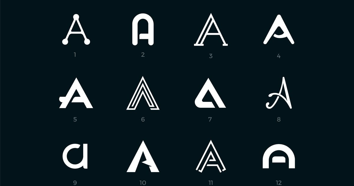 Download Letter A logo collection by filborg