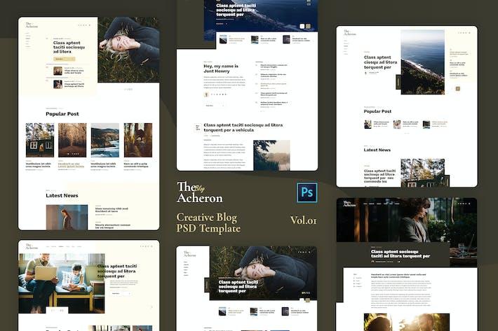 Thumbnail for Acheron Vol.01 - Creative Blog PSD Template