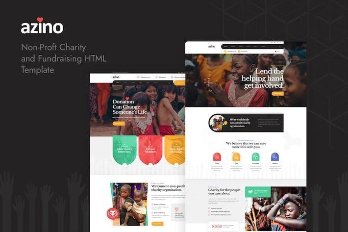 Thumbnail for Azino - Nonprofit Charity HTML Template