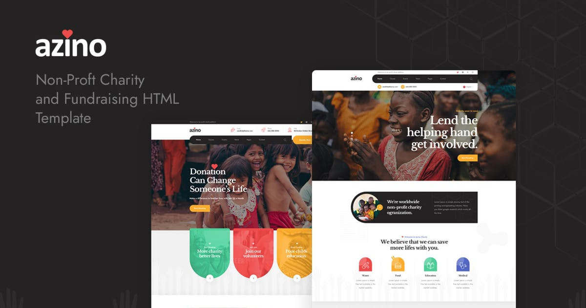 Download Azino - Nonprofit Charity HTML Template by Layerdrops