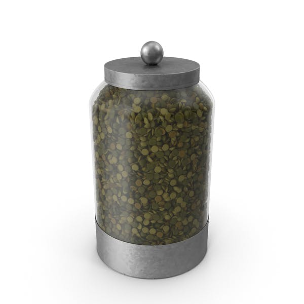 Glass Lentil Canister