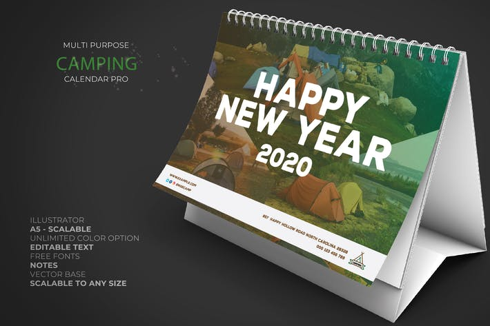 Thumbnail for 2020 Camping Calendar Pro