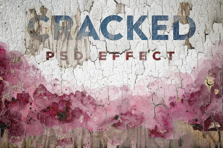 Thumbnail for Cracked Painted Texture Mockup