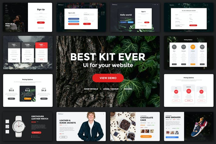 Thumbnail for Multipurpose Web UI Kit