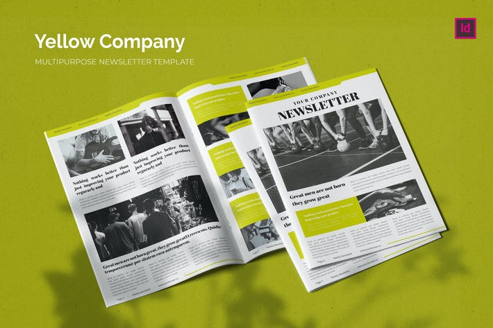Thumbnail for Yellow Company - Newsletter Template